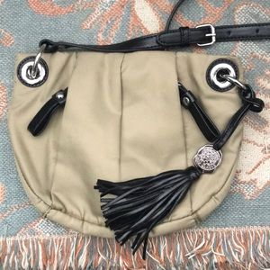 Tan & Black Vince Camuto Crossbody Bag/Purse